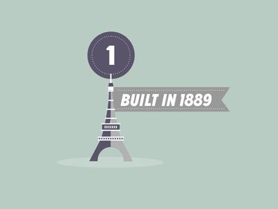 Info graphic illustration 1 - Eiffel tower