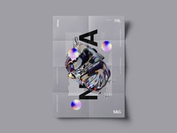 Show&Go2020™ | 116 | Endeavour motion c4d 3d poster art gradient space spacex nasa poster design