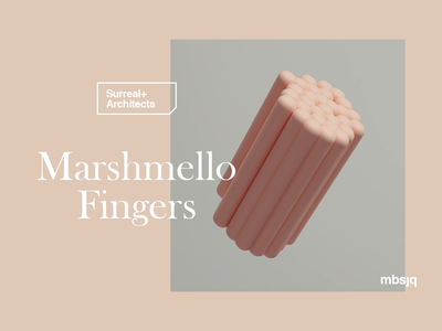 Marshmello Fingers motion graphics redshift cinema4d c4d houdini type animation food marshmello motion design motion