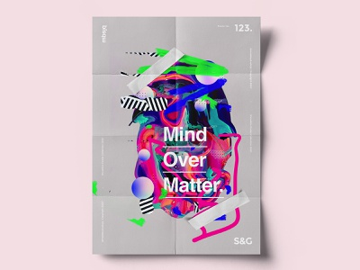 Show&Go2020™ | 123 | Mind Over Matter photoshop abstract gradient texture art design illustration typography type posters poster art poster