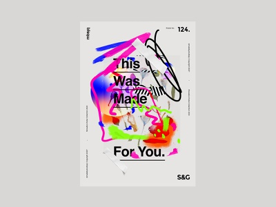 This Was Made For You. mbsjq helvetica type adobe photoshop poster a day art poster artwork poster art poster