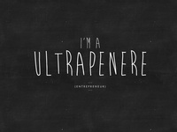 Jonisms (TM) // I'm a Ultrapenere