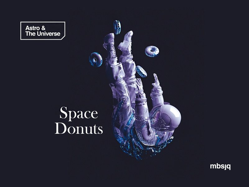 Astro & The Universe | Space Donuts mbsjq 3d art astronaut astro sci-fi scifi octanerender octane cinema4d 3d space