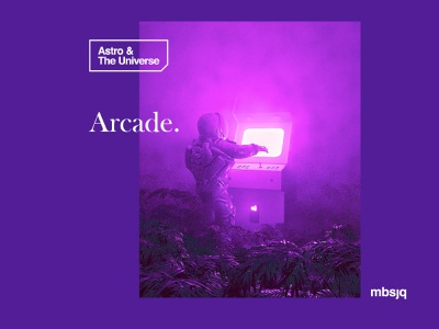Astro & The Universe | Arcade spaceman arcade retro octance cinema 4d cinema4d 3d art web 3d space