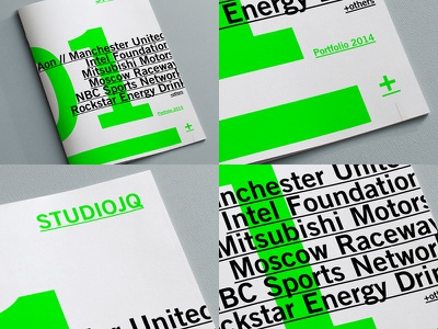 Brand refresh // Portfolio review logo editorial spot vibrant brochure green portfolio typography type swiss layout branding