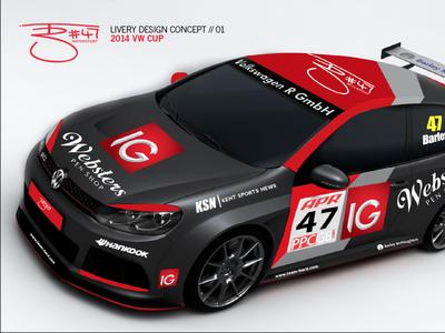 Tom Barley Motorsport branding & livery // VW Cup