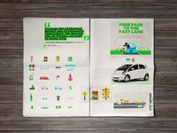 2014 // Mitsubishi Motors infographic layout