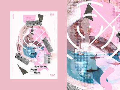 Memories From Mars type art texture brand design illustration typography illustrator branding poster design poster a day poster