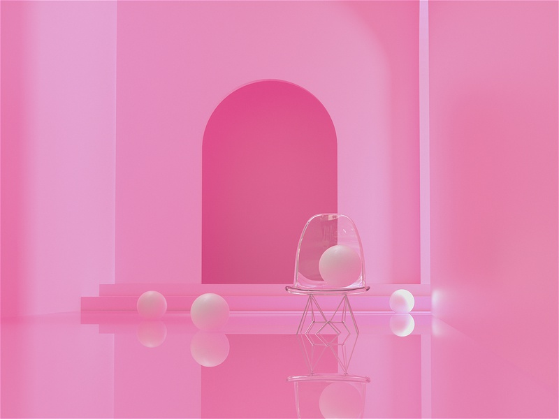 The Chosen One architecture surreal art pink octane 3d animation cinema4d c4d poster 3d art surreal 3d