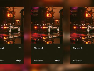 Mustard c4dart cyberpunk lamborghini retro octanerender octane cinema 4d c4d cinema4d album poster