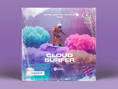 Cloud Surfer illustration type typography scifiui scifi fantasy space music c4dart 3d octane render octanerender octane c4d cinema 4d cinema4d