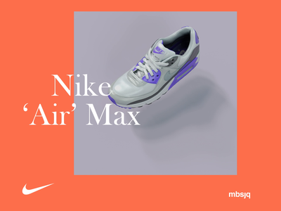 Nike 'Air' Max illustration poster typography nike air max surreal type web artist c4dart houdini 3d cinema 4d cinema4d c4d nikeairmax nikeair nike