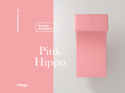 The Pink Hippo type c4dart 3d art motiongraphics motion design motion surreal 3d c4d cinema 4d cinema4d animation illustration pink hippo