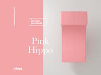 The Pink Hippo type c4dart 3d art motiongraphics motion design motion surreal 3d c4d cinema 4d cinema4d animation illustration pink hippo