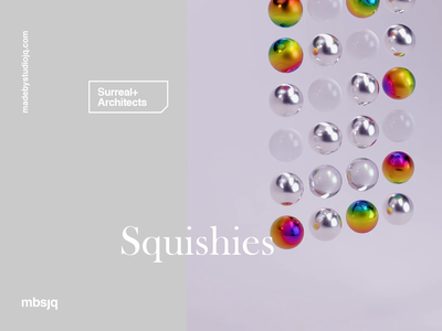 Rainbow Squishies satisfying web motion graphics redshift3d c4dart rainbow redshift cinema 4d cinema4d c4d motion motion design