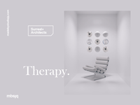 Therapy relax typography motiongraphics 3d animation 3d art chair c4d cinema 4d cinema4d 3d motion design motion