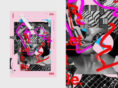 Show&Go2020™ | 214 | Let It Be art texture illustration branding type typography poster design collage photoshop photo adobe poster