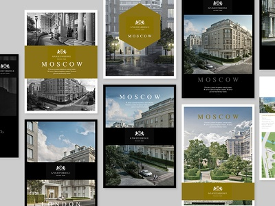 Branding concepts // Russian housing development branding gold graphic design flyer mono typography photography clean