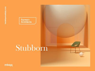 Stubborn interior yellow minimalism 3d surreal octanerender cinema 4d cinema4d c4d