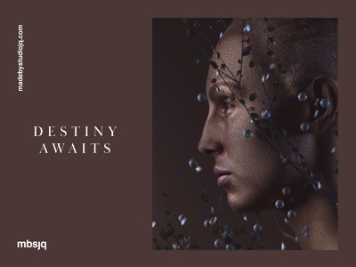 Destiny Awaits poster octane octanerender type portrait digitalart digital art maxon3d maxon c4d cinema4d