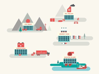 Engine Room illustrations icon icons illustration engine green boat poster mountain fun