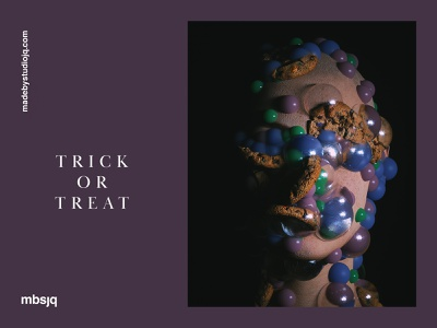 Trick Or Treat art logo typography illustration poster cinema 4d cinema4d c4d surreal octane trick or treat trickortreat halloween party halloween