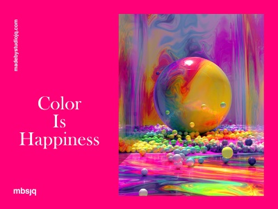 Color Is Happiness c4dart illustration surreal octane cinema 4d cinema4d c4d gradient happy color