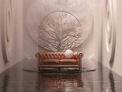 Forgotten Mist 3d art minimalism art architecture octanerender maxon cinema 4d cinema4d c4d 3d