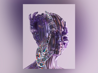 Self Love 3d art cryptoart mbsjq portrait 3d artist future surreal octane 3d