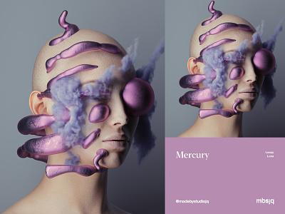 Mercury [Loopy Luna] mbsjq cryptoart 3d artist cinema4d c4d octanerender portrait 3d art 3d surreal