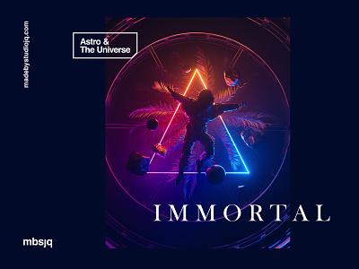 I M M O R T A L artist cryptoart fantasy octanerender cinema 4d cinema4d c4d astronaut scifi space art