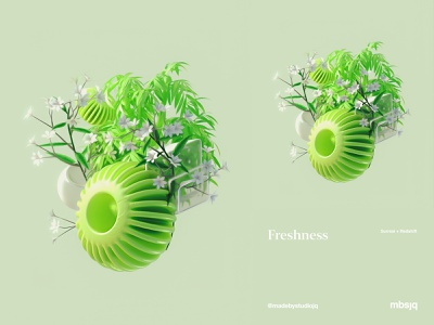 Freshness art mbsjq flowers cryptoart adobe nature digital art digitalart 3d artist 3d art 3d