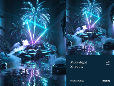 Moonlight Shadow 3d art mbsjq astro c4d 3d
