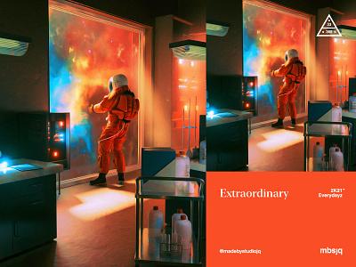 Extraordinary spaceman mbsjq c4d 3d astronaut elonmusk space nftart nft astroandtheuniverse spacex