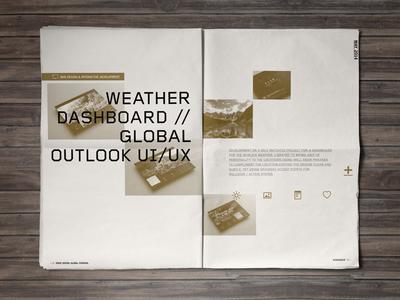 2014 Portfolio // Weather Dashboard layout