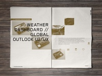 2014 Portfolio // Weather Dashboard layout