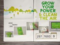 2014 Portfolio // Grow Energy layout