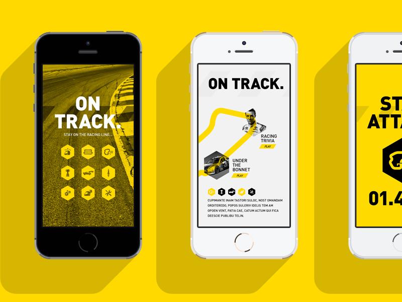 Motorsport project app design by madebystudiojq dribbble for App layout design online