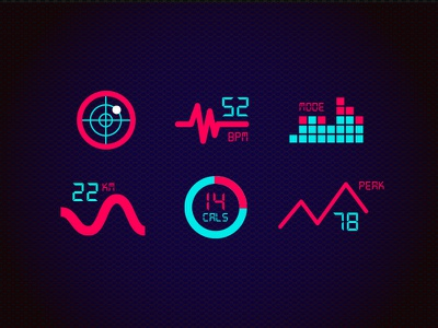 SPORT UI // Iconset pattern infographics fitness icon sport ios app design mobile interface ux ui