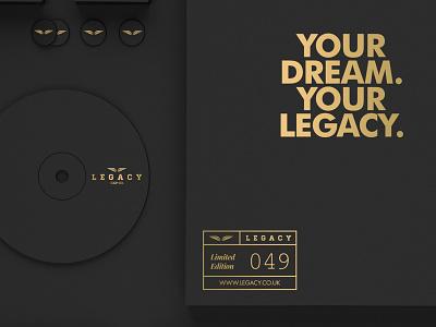LEGACY Cap Co. // Branding logomark logo identity branding brand retro trend gold apparel texture style