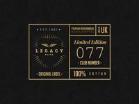 LEGACY Cap Co. // Badge Design 2