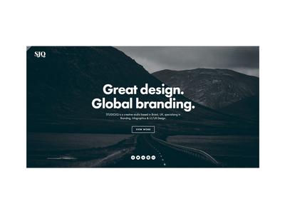 Minimalism website studio portfolio web ui type clean ux mono bristol icon