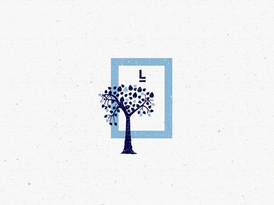 L-I-V-I-N-G Logomark [2] shape icon life branding brand identity blue texture logomark logo