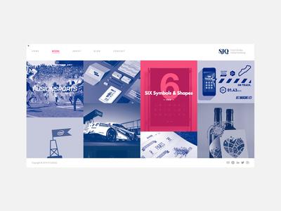 Red vs Blue website studio portfolio web ui type clean ux mono bristol icon