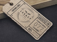 LEGACY // Label tag artwork
