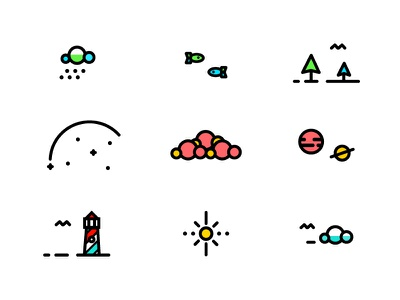 E-X-P-L-O-R-E icons color icon icons logo type tree illustration plane badge texture line detail