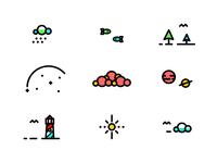 E-X-P-L-O-R-E icons