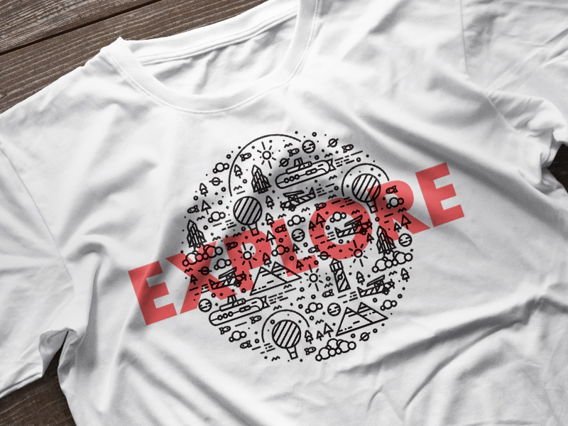 E-X-P-L-O-R-E // T-shirt (Option 2)