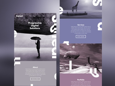 Surreal Website pastel photography logo one page ui ux web website surreal type color concept