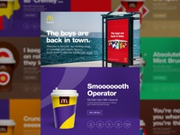 The Boys Are Back in Town // Product Page color flat web design stroke mcdonalds illustration branding product page ux brand ui food